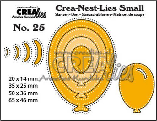 Crealies Crea-nest-Lies Small Ballonnen met stippen (4x) CNLS25 max. 65x46 mm (10-20)