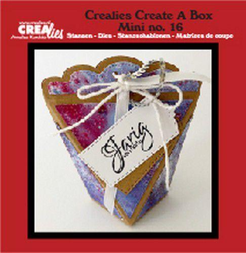 Crealies Create A Box Mini no. 16 zakdoosje CCABM16 8x4x10 cm  (10-20)