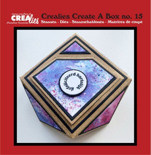 Crealies Create A Box no. 15 Juwelendoosje CCAB15 12x12 cm (10-20)