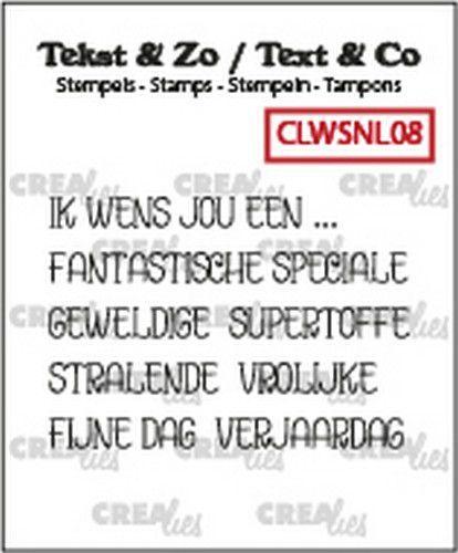 Crealies Clearstamp Tekst & Zo woordstrips Ik wens jou een... (NL) CLWSNL08 5x4x44 mm (10-20)
