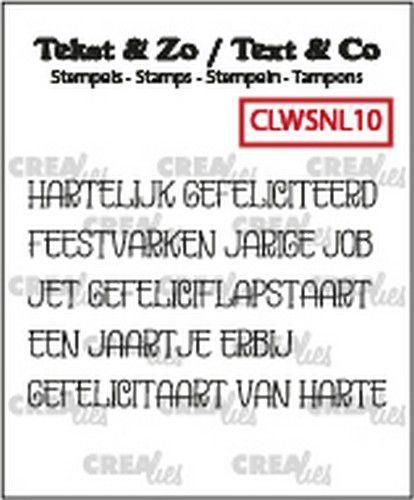 Crealies Clearstamp Tekst & Zo woordstrips Gefeliciteerd (NL) CLWSNL10 5x 4x48 mm (10-20)
