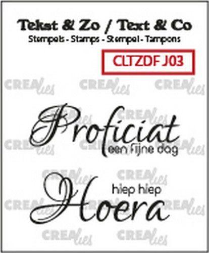 Crealies Clearstamp Tekst & Zo Font Jarig no. 3 (NL) CLTZDFJ03 40x14 mm (10-20)