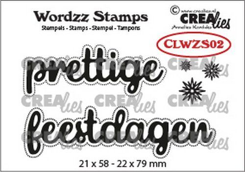 Crealies Clearstamp Wordzz prettige feestdagen (NL) CLWZS02 22x79 mm (10-20)