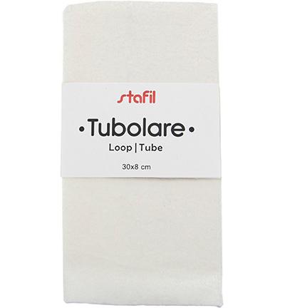 velour tube, white