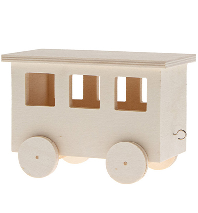 DIY kit wooden wagon 2pcs