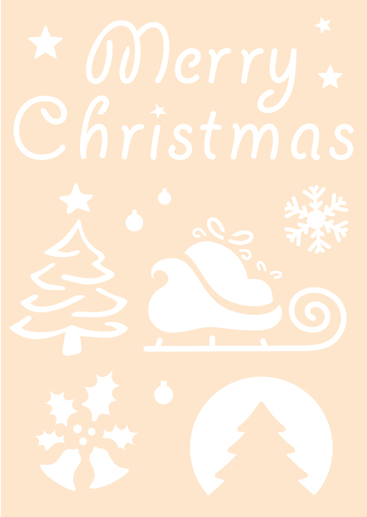 Polybesa stencil - Merry Christmas