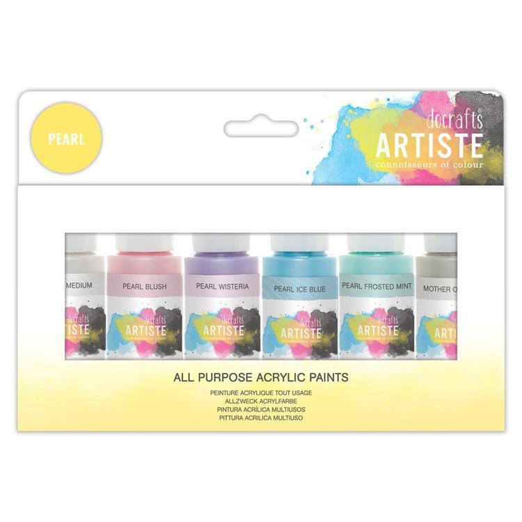 Artiste Acrylic Pack 6x59ml - Pearlescent