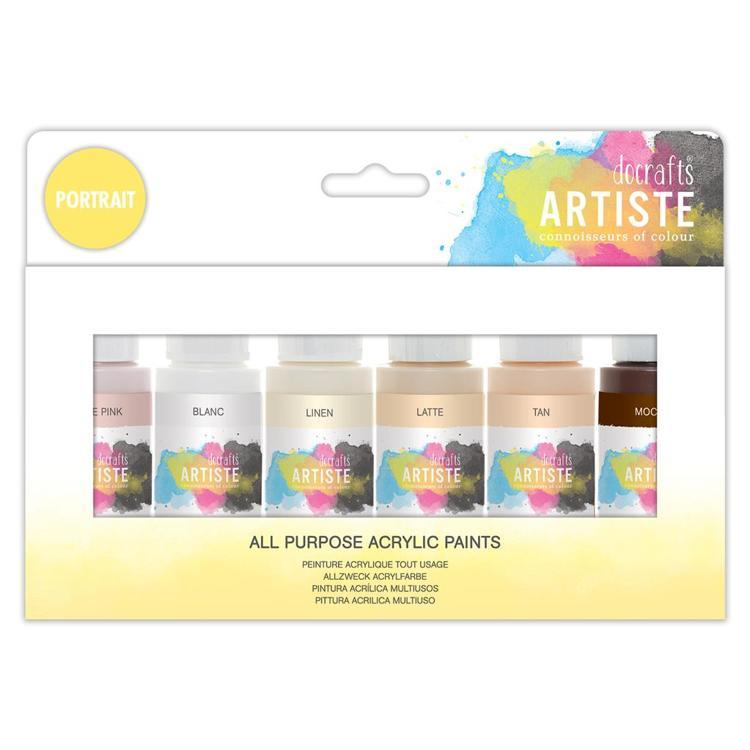 Artiste Acrylic Pack 6x59ml - Portrait