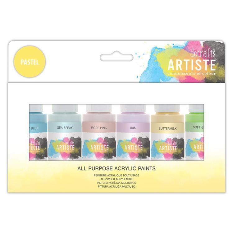 Artiste Acrylic Pack 6x59ml - Pastels