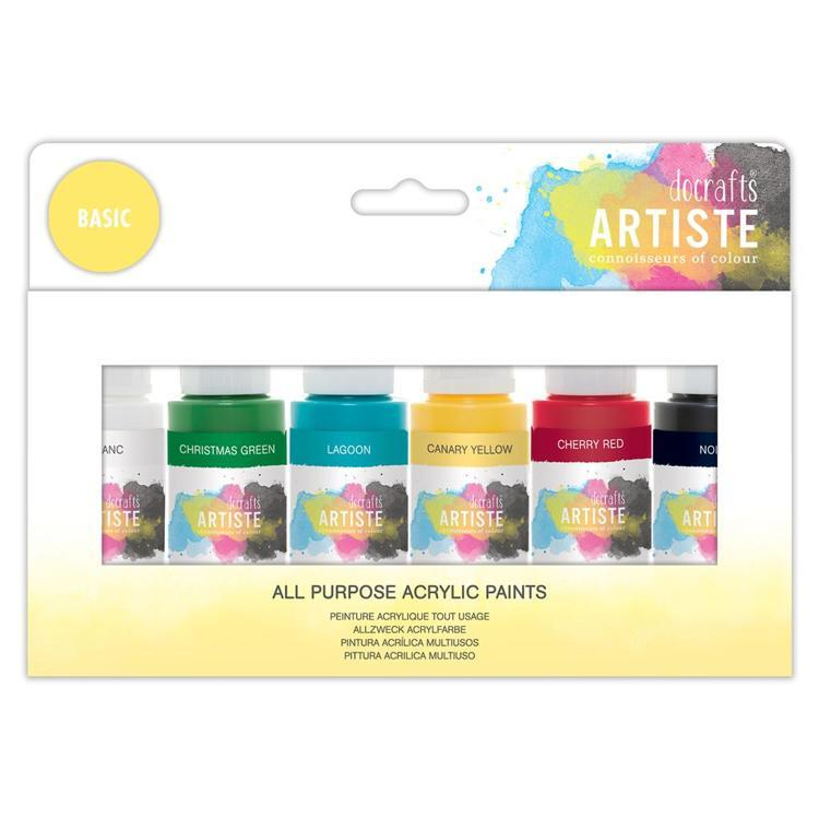 Artiste Acrylic Pack 6x59ml - Basic