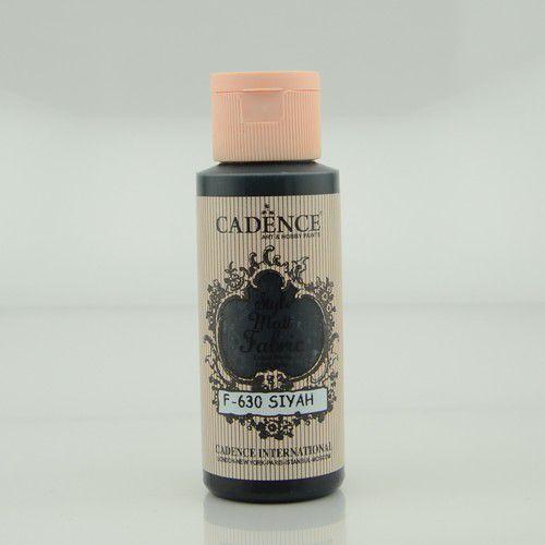 Cadence Style matt textiel verf Zwart 01 021 F630 0059 59ml (09-20)