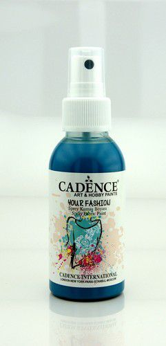 Cadence Your fashion spray textiel verf Donker turkoois 01 022 1116 0100 100ml (09-20)