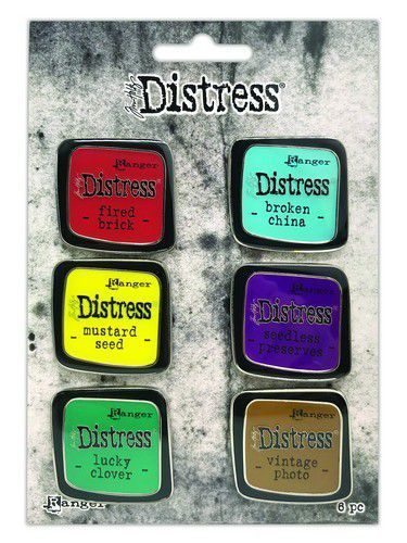Ranger Distress Pin-Carded -Distress Pin Set 2 - 6 st TDZS73444 Tim Holtz (09-20)