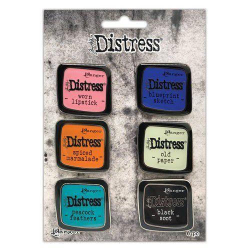 Ranger Distress Pin-Carded -Distress Pin Set 4 - 6 st TDZS73468 Tim Holtz (11-20)