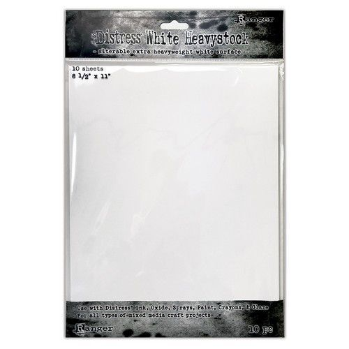 Ranger Tim Holtz Distress White Heavystock 10 vel TDA76322 (11-20)