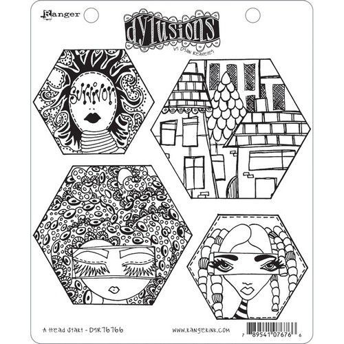 Ranger Dylusions Cling Stamp Set A Head Start DYR76766 (11-20)