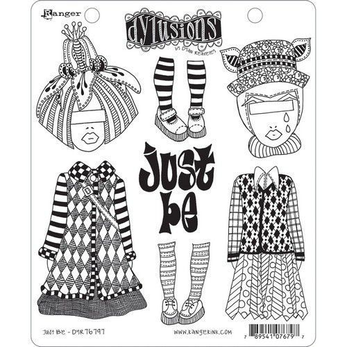 Ranger Dylusions Cling Stamp Set Just Be DYR76797 (11-20)