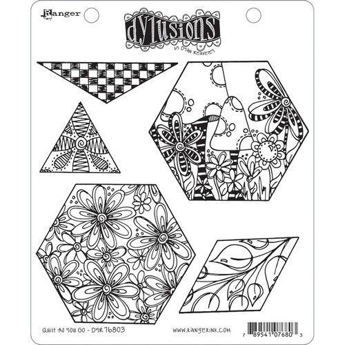 Ranger Dylusions Cling Stamp Set Quilt As You Go DYR76803 (11-20)