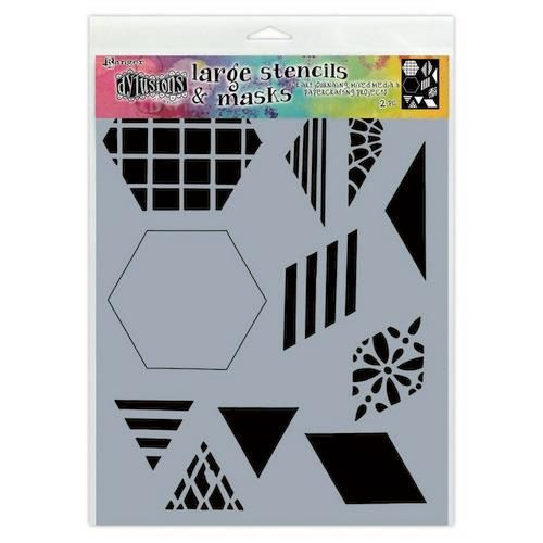 Ranger Dylusions Stencils 2 Inch Quilt - Large DYS75332 (11-20)
