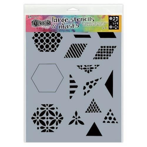 Ranger Dylusions Stencils 1 1/2 Inch Quilt - Small DYS75349 (11-20)