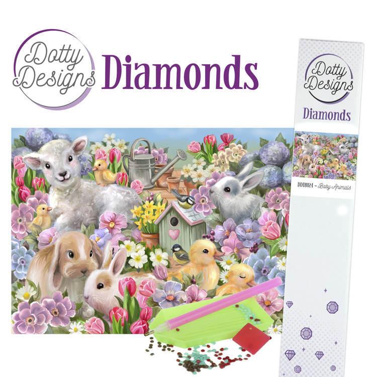 Dotty Designs Diamonds - Baby Animals