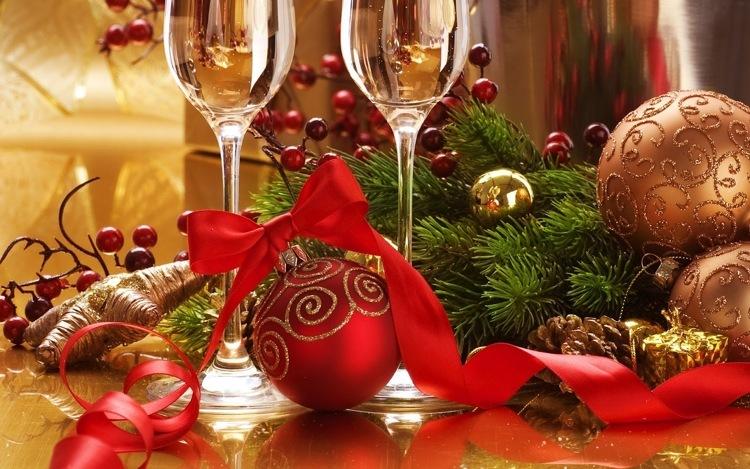 Diamond Painting kerst wijnglazen
