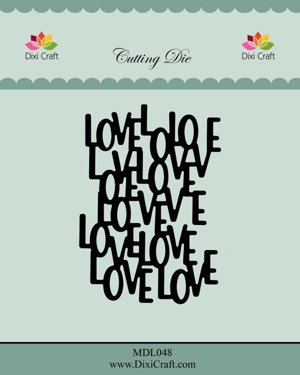 MDL048 Dixi Craft Die, Love background