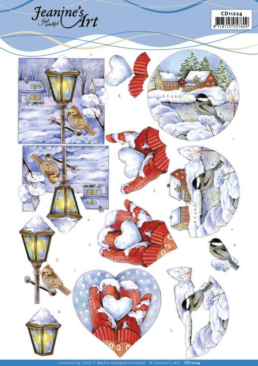 3D Cutting Sheet - Jeanine's Art -Winter Scenes