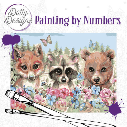 Dotty Design Painting by Numbers - Forest Animals