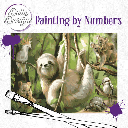 Dotty Design Painting by Numbers - Sloth