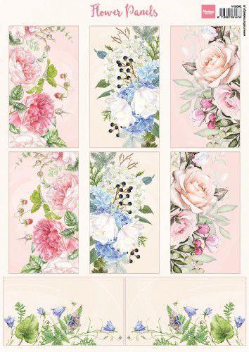 Marianne D Knipvellen Flower Panels VK9592 A$ (12-20)