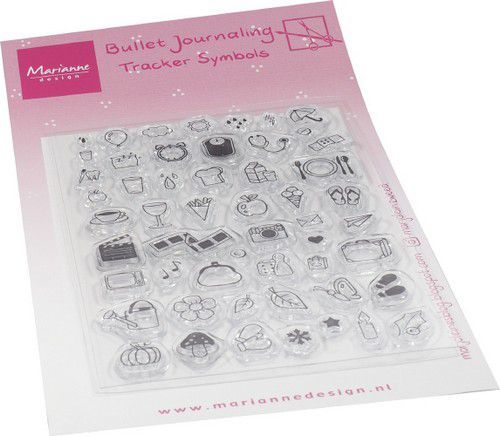 Marianne D Clear Stamps Marjoleine's BuJo - Tracker symbols MZ1909 105x180mm (12-20)