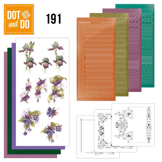 Dot and Do 191 - Precious Marieke - Pretty Flowers - Purple Flowers