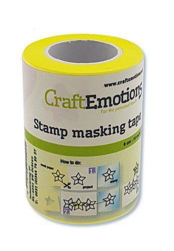 CraftEmotions stempel maskeer tape 6 cm - 10 meter (10-20)