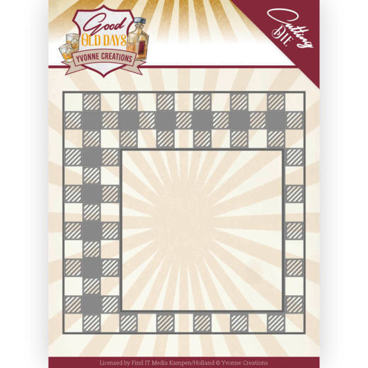 Dies - Yvonne Creations - Good old day's - Checkered Frame