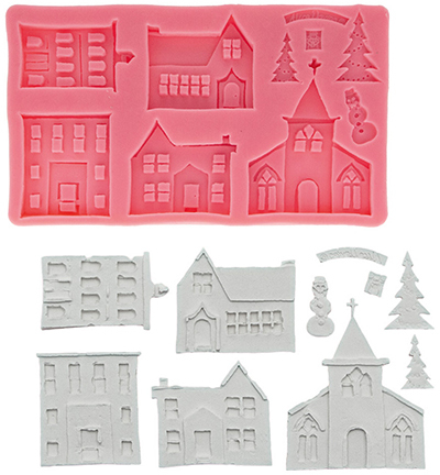 silicone mold, Christmas houses