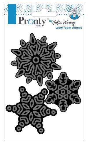 Pronty Foam stamps Snow flakes 494.904.025 Julia Woning (11-20)