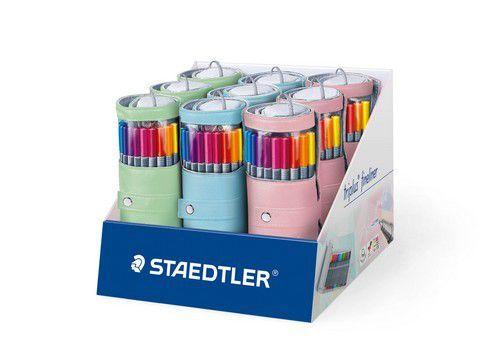 Staedtler triplus fineliner - pennenzak rond 20 st pastel 334 PC20