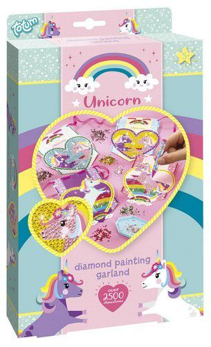 Totum kinder hobbyset Diamond painting Unicorn slinger 071056 30,5x18x3,5cm 5+ (11-20)