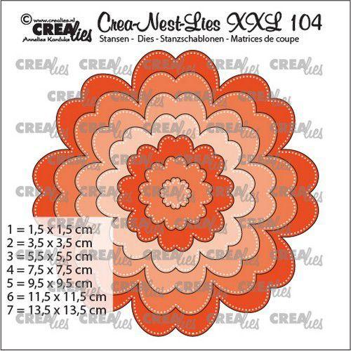 Crealies Crea-nest-dies XXL Bloem CLNestXXL104 13,5 x 13,5 cm (11-20)