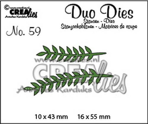 Crealies Duo Dies no. 59 Blaadjes 13 CLDD59 16x55mm (11-20)