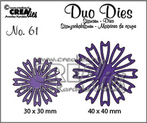 Crealies Duo Dies no. 61 open Bloemen 26 CLDD61 41x40mm (11-20)