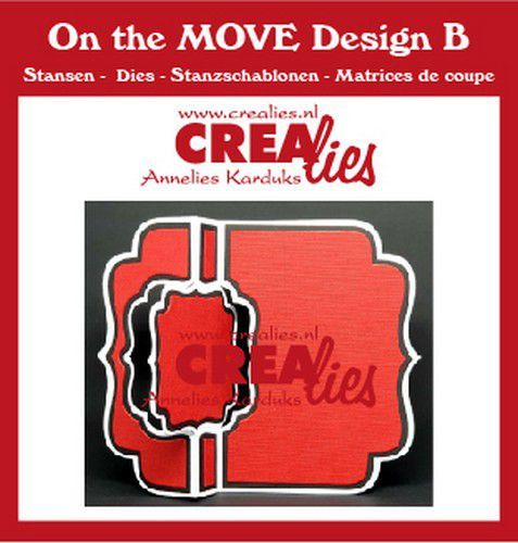 Crealies On The Move Design B Swing along CLMOVE02 13,5x17,5cm (11-20)