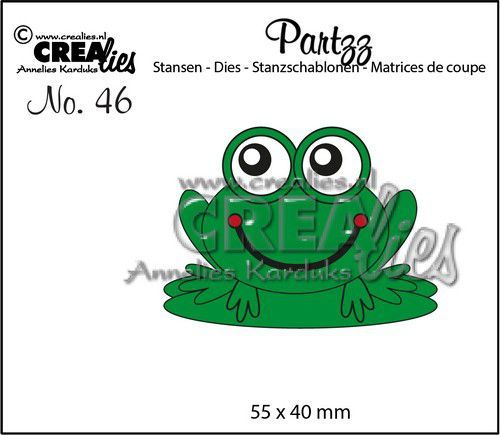 Crealies Partzz Kikker CLPartzz46 55x40mm (11-20)