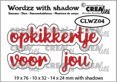 Crealies Wordzz with Shadow opkikkertje voor jou (NL) CLWZ04 19x76mm (11-20)