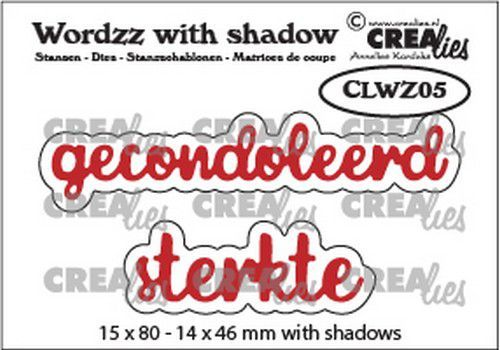 Crealies Wordzz with Shadow Gecondoleerd sterkte (NL) CLWZ05 15x80mm (11-20)