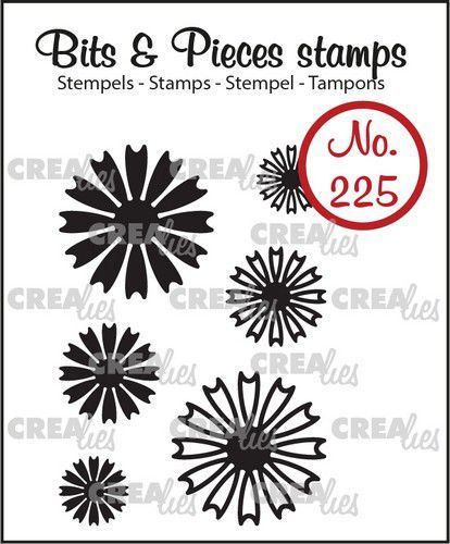 Crealies Clearstamp Bits & Pieces Mini Bloemen 26 CLBP225 19x19mm (11-20)