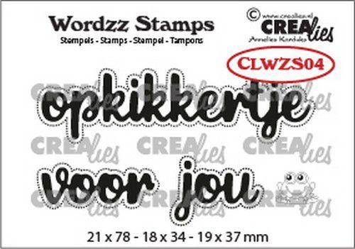 Crealies Clearstamp Wordzz Opkikkertje voor jou (NL) CLWZS04 21x78mm (11-20)