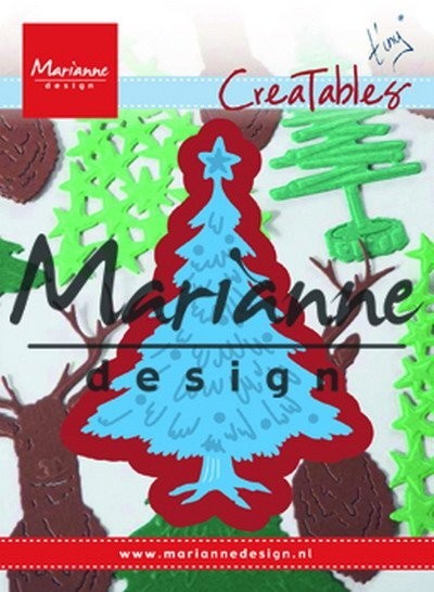 Marianne Design - Die - CreaTables - Tiny`s Christmas tree decorated - LR491