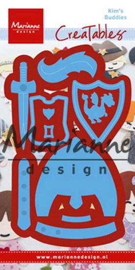 Marianne Design - Die - CreaTables - Kim's Buddies knight - LR0528